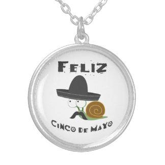 Feliz Cinco De Mayo - Snail Silver Plated Necklace