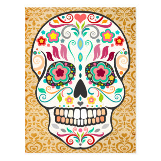 Feliz Muertos - Happy Sugar Skull Postcard