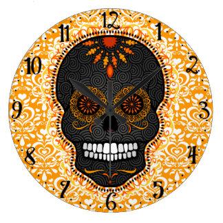 Feliz Muertos - Happy Sugar Skull Wall Clock