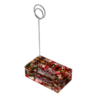 ¡Feliz Navidad! Merry Christmas in Spanish wf Table Number Holder