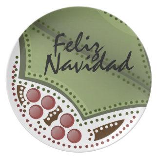 Feliz Navidad Plato - Spanish Plate
