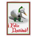 Feliz Navidad - Santa's Helper Elf Duck Greeting Cards