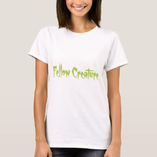 Fellow Creature Lime Green Creepy Horror T-Shirt