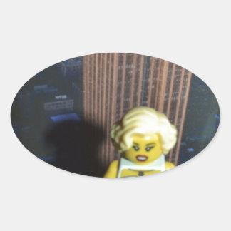 fem fatal oval sticker
