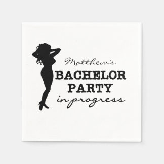 Female Bachelor Party Personalized Paper Napkins
