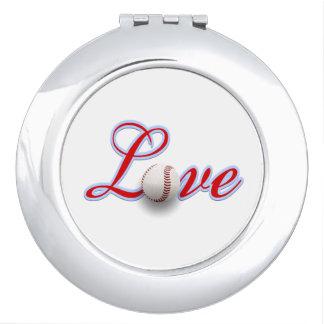 Female Baseball Fan Gift Idea Photo Compact Mirror