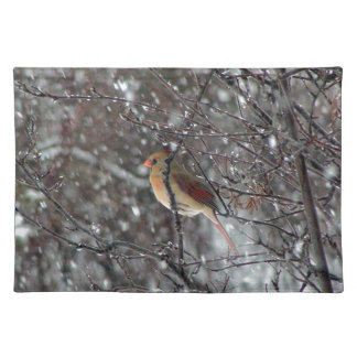 Female Cardinal placemat