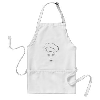 Female Chef on a Cook's Apron