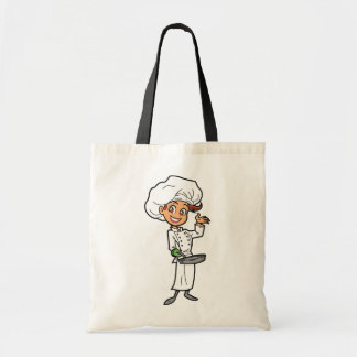Female Chef With A Frying Pan Tote Bag