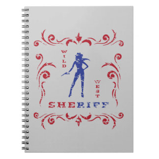 Female Cowgirl Notepad Notebooks