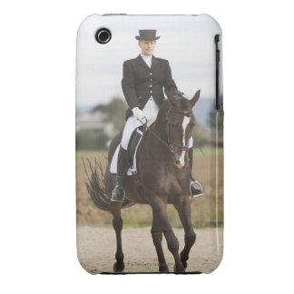 female dressage rider exercising iPhone 3 Case-Mate case