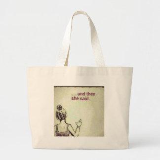Female F off Large Tote Bag