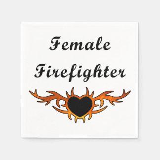 Female Firefighter Paper Serviettes