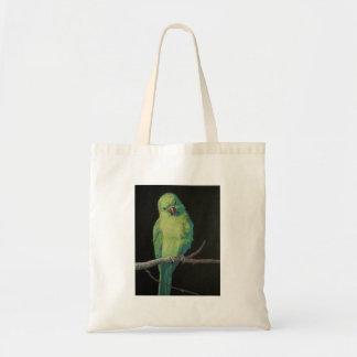 Female Indian Ringneck Parrot Tote Bag