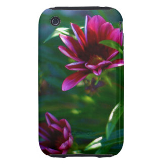 Female iPhone,iPod hard cover with Purple flowers iPhone 3 Tough Case
