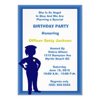 Female Police Officer Birthday Party Invitation