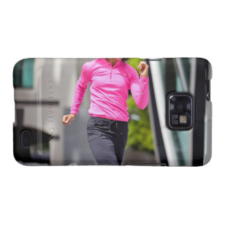 Female Runner in London Galaxy S2 Covers