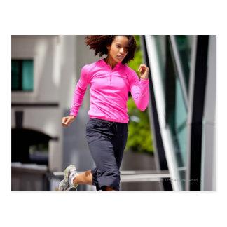 Female Runner in London Postcard