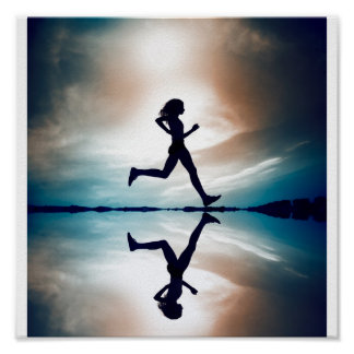 Female runner poster