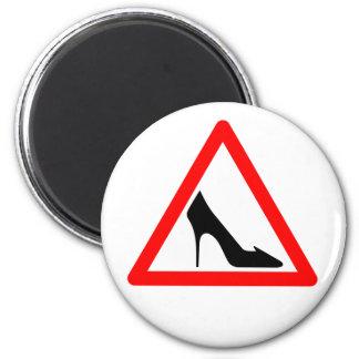 Female Shoe Sign Refrigerator Magnet