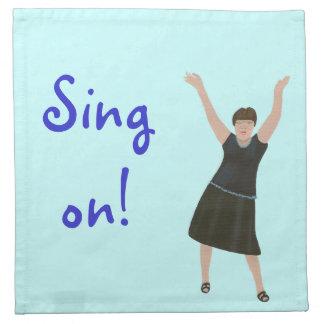 Female singer, Sing on, karaoke napkins