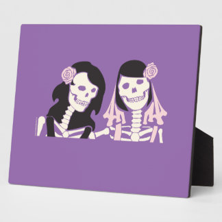 Female Skeleton Couple Plaque
