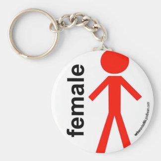 Female Stick Figure Key Ring