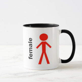 Female Stick Figure Mug