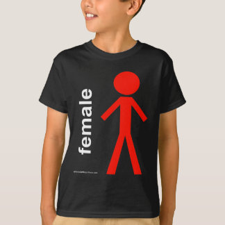 Female Stick Figure T-Shirt