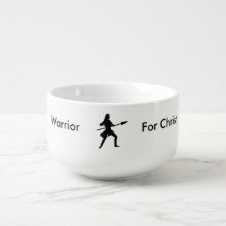Female Warrior For Christ Soup Mug