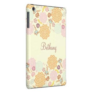 Feminine Fancy Modern Floral Personalized iPad Mini Retina Covers