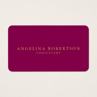 Feminine Minimalist Pink Gold Professional Trendy Business Card