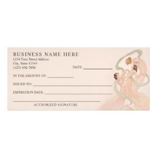 Feminine Vintage Nouveau Mayflies Gift Certificate Customized Rack Card