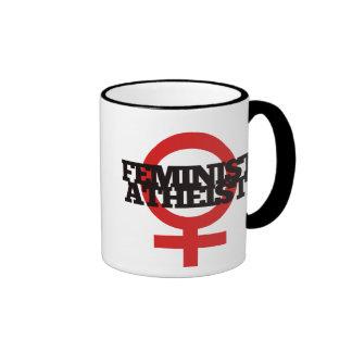 Feminist Atheist Ringer Coffee Mug