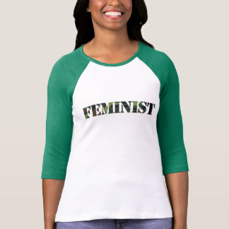 Feminist camo t-shirt