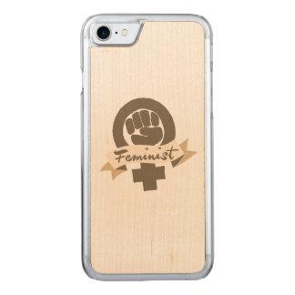 Feminist symbol carved iPhone 8/7 case