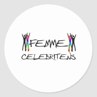 Femme Celebritens Round Sticker