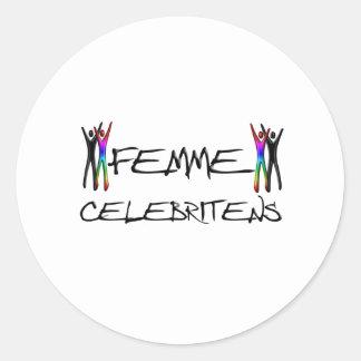 Femme Celebrity Round Stickers