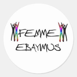 Femme Ebayimus Round Sticker