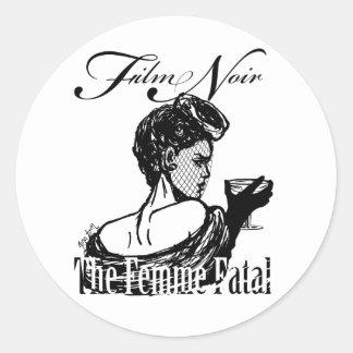 Femme Fatal Round Sticker