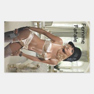 Femme Fatale 1920's - Smoking and Guns Rectangular Sticker