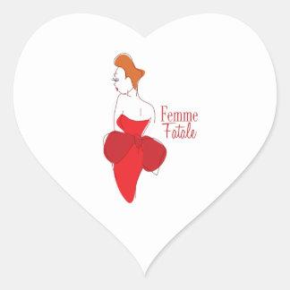 Femme Fatale Heart Sticker