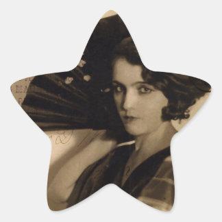 Femme Fatale in Sepia Star Sticker