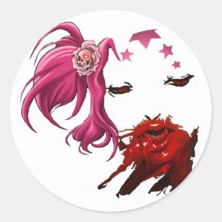 Femme Fatale Round Sticker