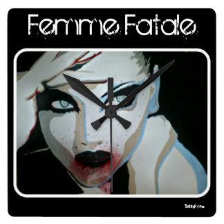 ''Femme Fatale' Wall Clock