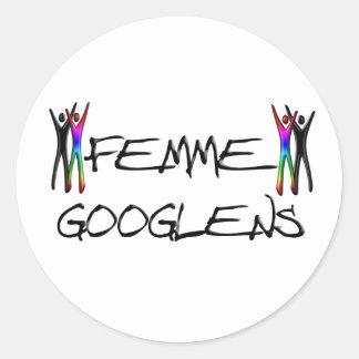 Femme Googlens Stickers