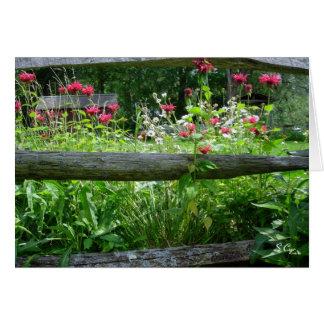 Fence Flowers S Cyr Card