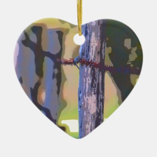 Baby Gifts Queensland : Fence posts rural queensland australia ceramic heart