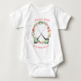 Fencing Princess Floral Foils Tees