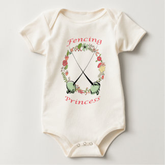 Fencing Princess Floral Foils Bodysuits
